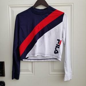 FILA Ayeka long sleeve crop top athletic shirt S